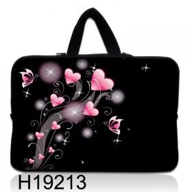 """Huado taška na notebook do 15.6"""" Ružové srdiečka"""