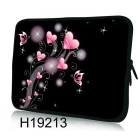 """Huado púzdro na notebook do 12.1"""" Ružové srdiečka"""