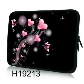 """Huado púzdro na notebook do 13.3"""" Ružové srdiečka"""