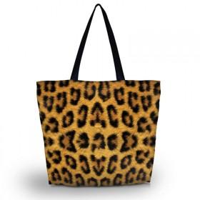Huado nákupná a plážová taška - Leopard