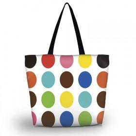Nákupní a plážová taška - Polka dots