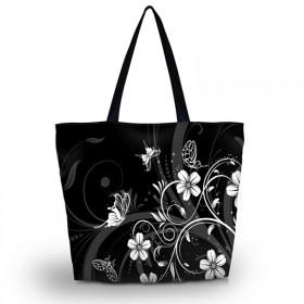 Huado nákupná a plážová taška - Kvetinky