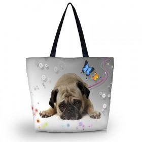 Huado nákupná a plážová taška - Mops