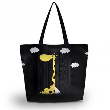 Nákupní a plážová taška - Žirafa