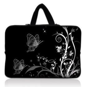 """Huado taška na notebook do 12.1"""" Černobiele motýle"""