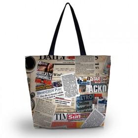 Huado nákupná a plážová taška - Noviny