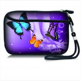 Huado kozmetické púzdro Motýle vo fialovej