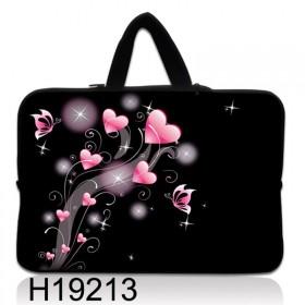 """Huado taška na notebook do 12.1"""" Ružové srdiečka"""