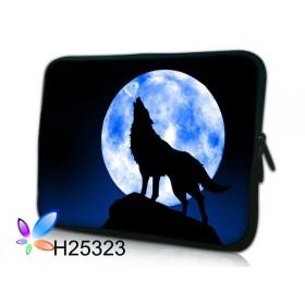 """Huado púzdro na notebook do 14.4"""" Vlk vyjúci na mesiac"""