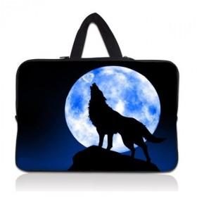 """Huado taška na notebook do 14.4"""" Vlk vyjúci na mesiac"""
