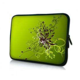 "Huado púzdro na notebook do 14.4"" Zelený rozkvet"