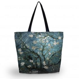 Huado nákupná a plážová taška - Modrá čerešňa