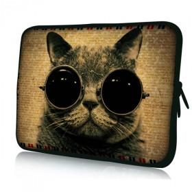 """Huado púzdro pre notebook do 12.1"""" Mačka s okuliarmi"""