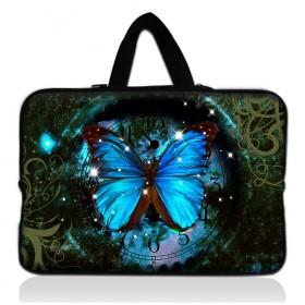"Taška Huado pro notebook do 12.1"" Hodiny a motýl"