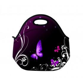 Huado termotaška z neoprénu- Purpurové motýle