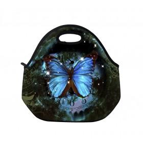 Huado termotaška z neoprénu- Hodiny a motýľ