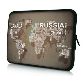 """Huado púzdro pre notebook do 15.6"""" Mapa sveta"""