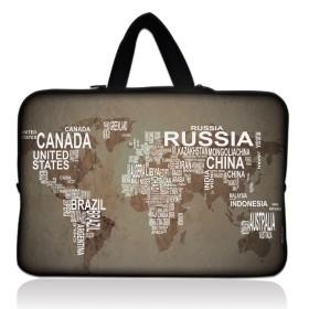 """Huado taška  pre notebook do 15.6"""" Mapa sveta"""