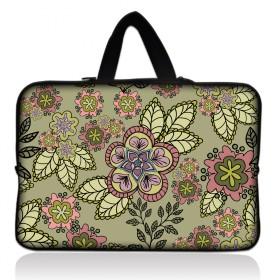 """Huado taška  pre notebook do 12.1"""" Retro zelené kvítí"""