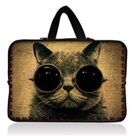"""Huado taška na notebook do 17.4"""" Kočka s brýlemi"""