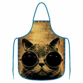 Kuchyňská zástěra - Kočka s brýlemi