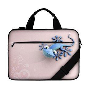 """Huado taška cez rameno 15.6"""" Ružový gekón"""
