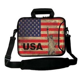 """Huado taška cez rameno 15.6"""" Vlajka USA"""