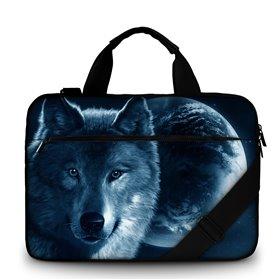 """Huado taška cez rameno 15.6"""" Vlk a mesiac"""