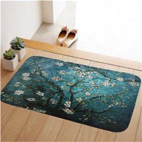 HUADO koupelnová předložka 60x40 cm Modrá třešeň