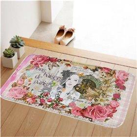 HUADO koupelnová předložka 60x40 cm Květová víla