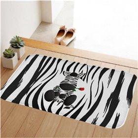 HUADO koupelnová předložka 60x40 cm Zebra Fun