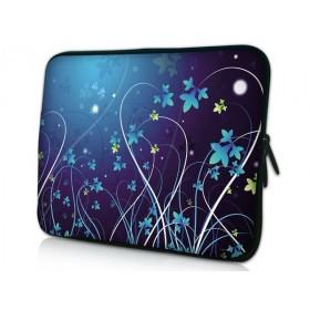 """Huado púzdro na notebook do 10.2"""" Modré kvety"""