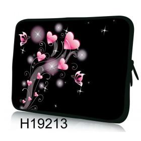 """Huado púzdro na notebook do 10.2"""" Ružové srdiečka"""