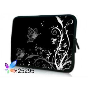 """Huado púzdro na notebook do 13.3"""" Černobiele motýle"""