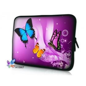 """Huado púzdro na notebook do 14.4"""" Motýle vo fialovej"""