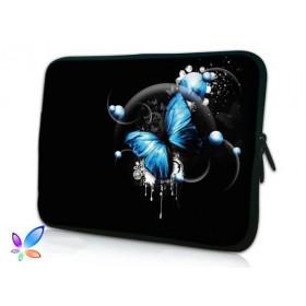 """Huado púzdro na notebook do 15.6"""" Modrý motýľ"""