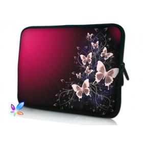 """Huado púzdro na notebook do 15.6"""" Motýle v bordo"""