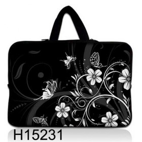 """Huado taška na notebook do 10.2"""" Kvetinky a motýle"""