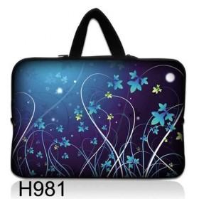 """Huado taška na notebook do 10.2"""" Modré kvety"""