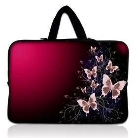 """Huado taška na notebook do 12.1"""" Motýle v bordo"""