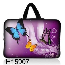 """Huado taška na notebook do 14.4"""" Motýle vo fialovej"""