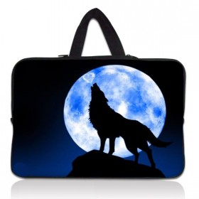 """Huado taška na notebook do 15.6"""" Vlk vyjúci na mesiac"""