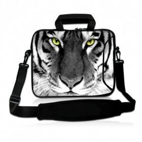 """Huado taška cez rameno do 17.4"""" Čiernobiely Tiger"""