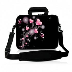 """Huado taška cez rameno do 17.4"""" Ružové srdiečka"""