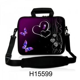 """Huado taška cez rameno do 17.4"""" Dvojité srdce"""
