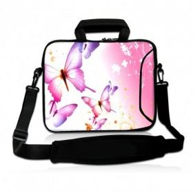 """Huado taška cez rameno do 17.4"""" Ružové motýle"""